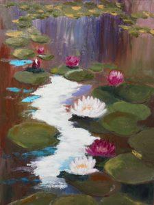 lilie wodne obraz olejny