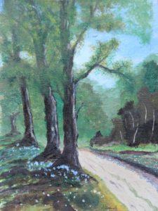 leśna droga obraz akrylowy