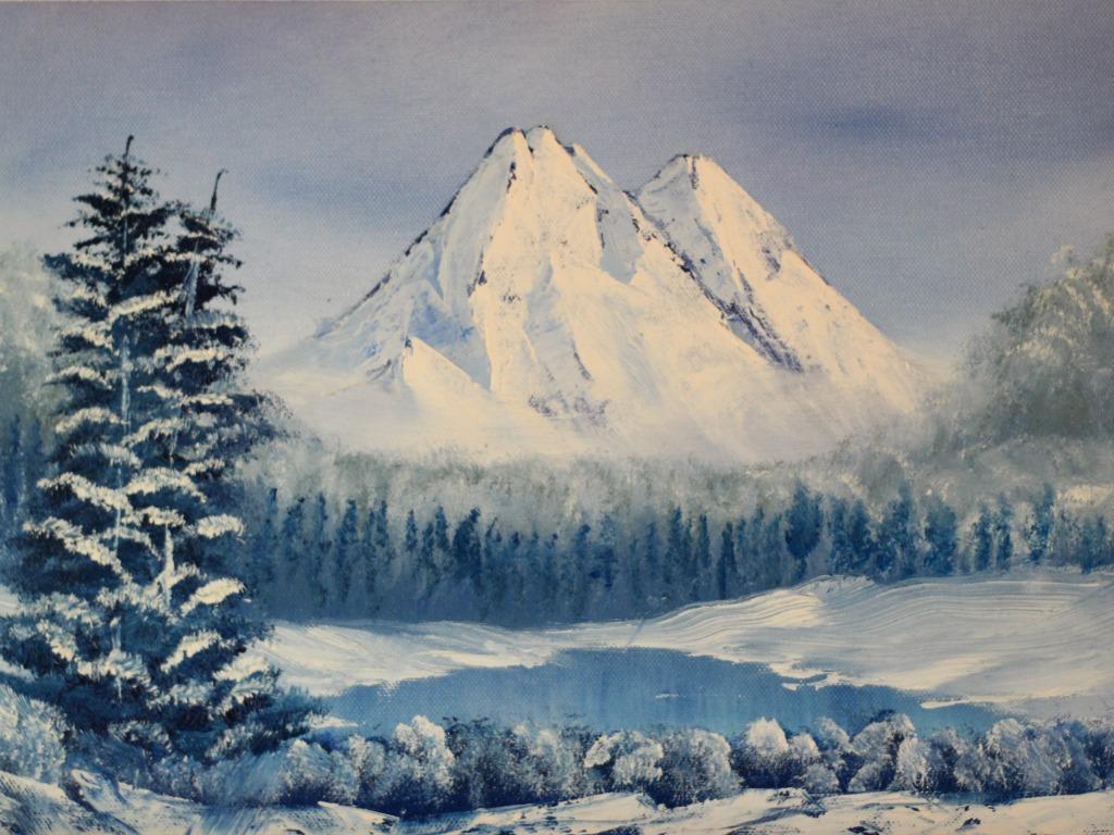 """""""Góry"""" 28x40cm, olej na płótnie"""