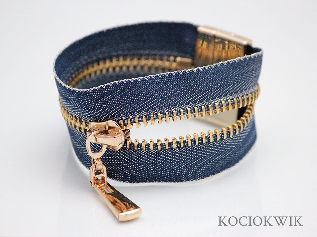 bransoletka zamkowa niebieski