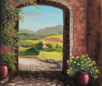 Pejzaż z Toskanii Anna Kubczak