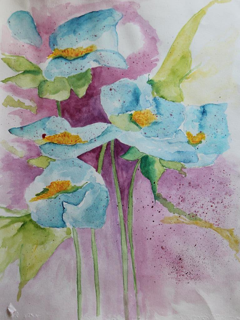 kwiaty obraz akrylowy