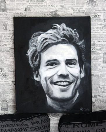 portret mężczyzny by Anna Kubczak