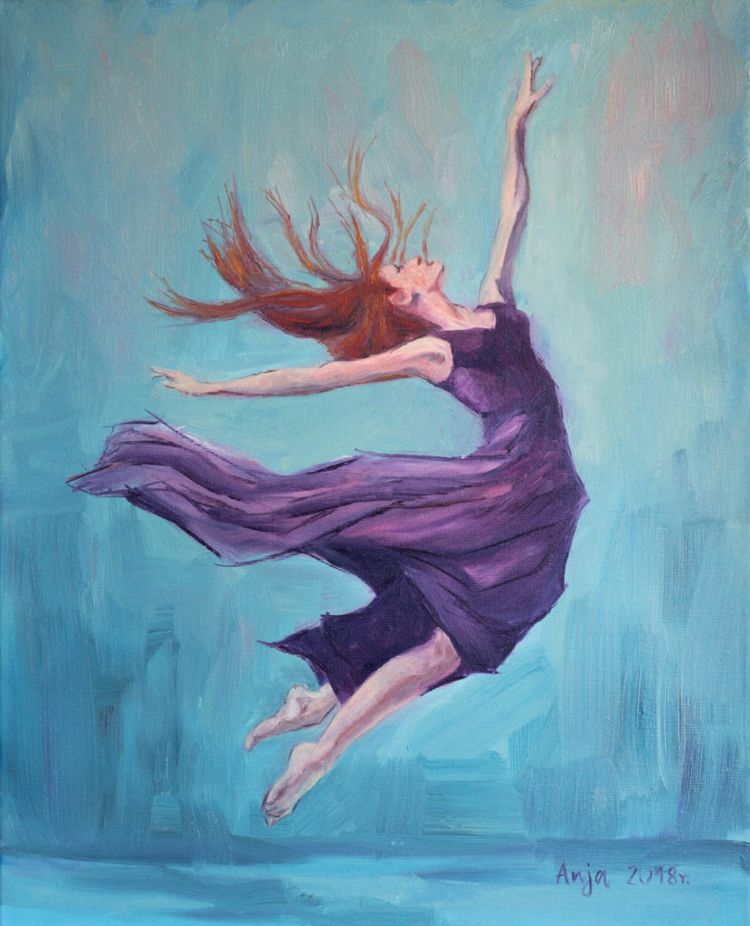 Taniec by Anna Kubczak, obraz olejny